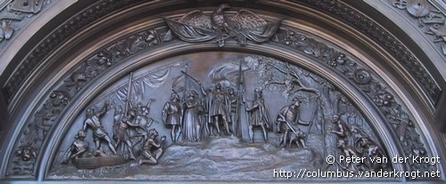 At the pinnacle is a bust of Columbus surrounded by rays and oak leaves signifying his rising to glory. A running border is ornamented with Indian ... & Washington - Capitol Doors pezcame.com